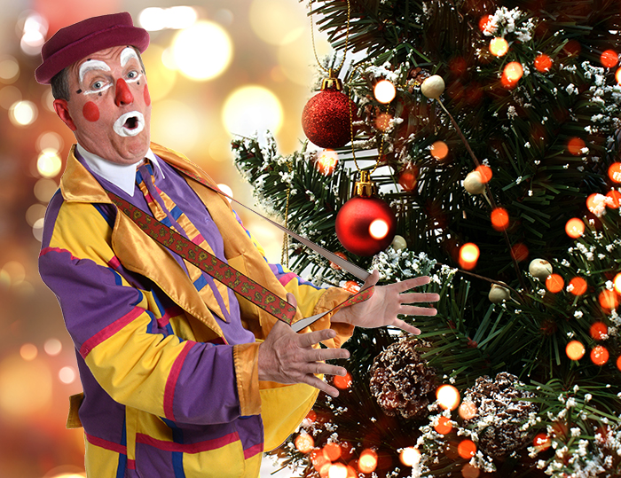 animation clown pour arbre de Noël