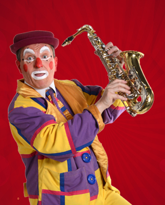 Clown saxo