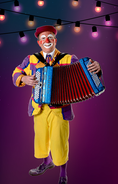 clown accordéoniste
