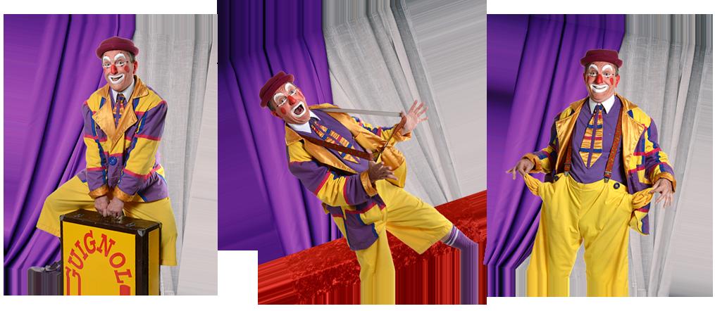 Guignolo, clown rigolo