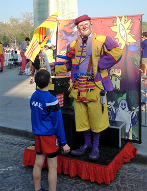 Podium ambulant du clown