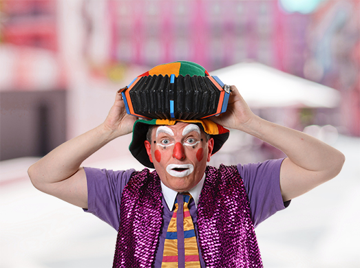 Spectacle de rue clown