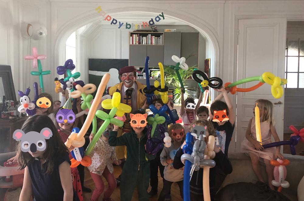 animation anniversaire sculpture sur ballon