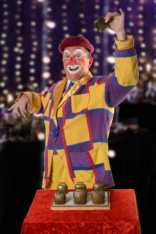 clown musicien clochettes de Noël